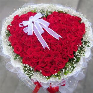 99朵玫瑰鲜花速递武汉北京成都上海送花广州花店重庆鲜花南京郑州
