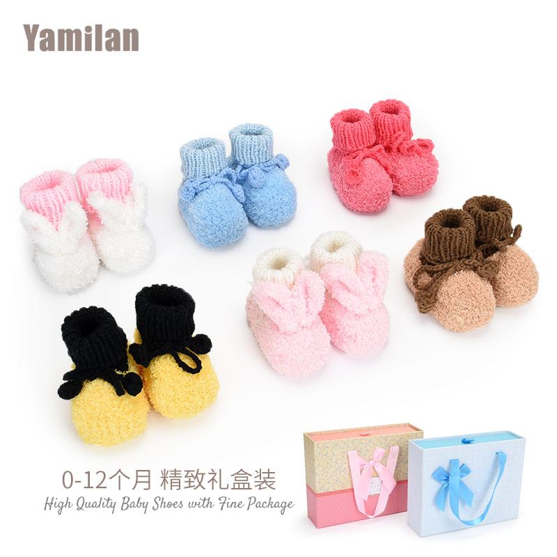 毛线编织婴儿鞋