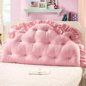 床头沙发大靠垫软包韩版公主风双人靠背榻榻米情侣靠枕床靠背脱卸