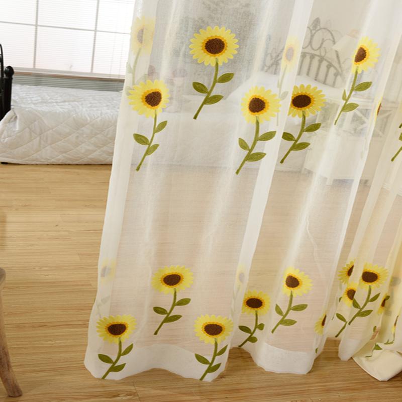 绣花窗帘纱帘