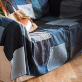 American country style denim sofa towel sofa cover sofa cover dust-proof cover cloth cloth