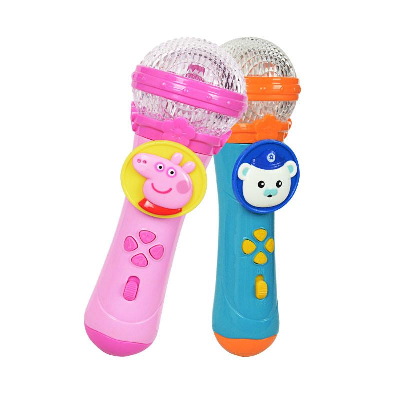 小猪佩奇麦克风音乐玩具海底小纵队电动卡拉ok儿童多功能扩音话筒