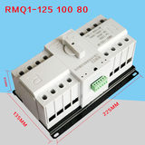 Shanghai people 100A double power automatic changeover switch 4P125A double power automatic changeover switch