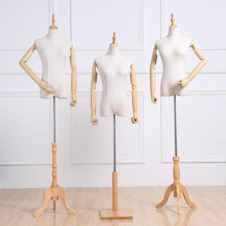 服装店模道具女半身摄假人台男全身婚纱橱窗带塑料手展示模