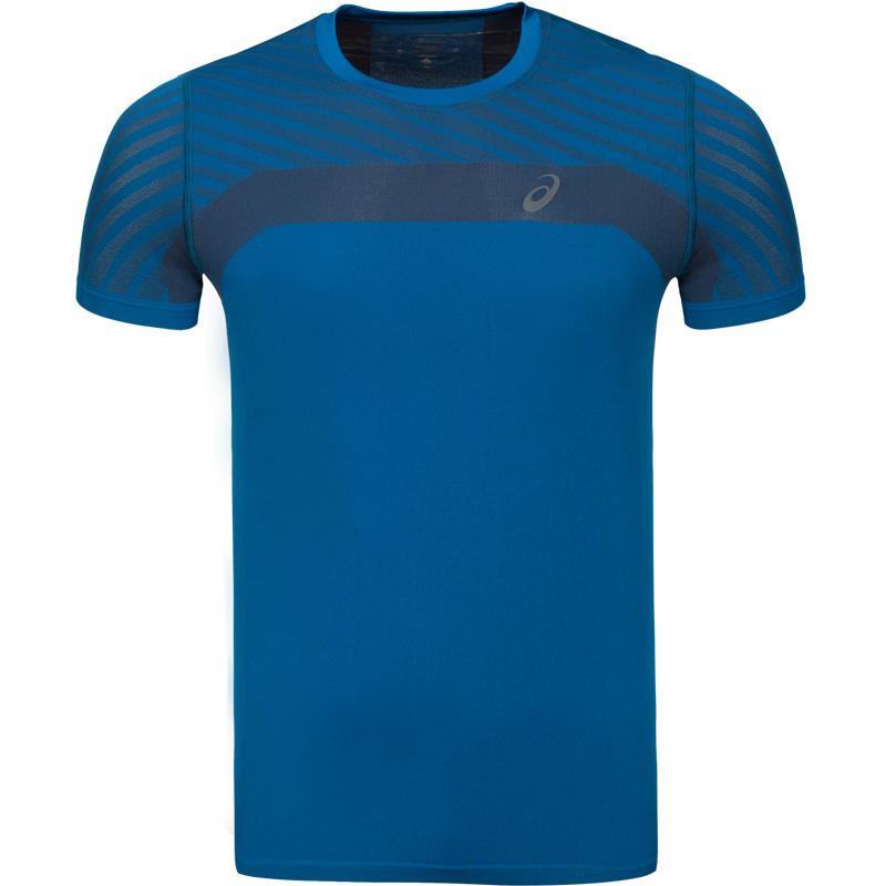 ASICS/亚瑟士T恤速干男子无缝跑步短袖运动上衣 2011A622-001