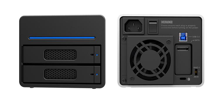 包顺丰Stardom ST2-SB3 2盘位USB3.0/eSATA磁盘阵列柜RAID0/1