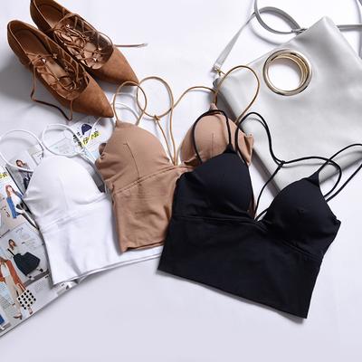 2017夏装新款纯色吊带小背心女短款性感显瘦打底内搭挂脖抹胸上衣