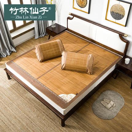 竹林仙子凉席1.8m床竹席双面折叠藤席子单人宿舍1.5米1.2竹凉席