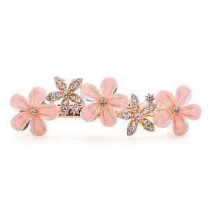 发饰心情发夹饰品镶钻弹簧夹顶夹发卡子 韩国花朵头发夹子头饰