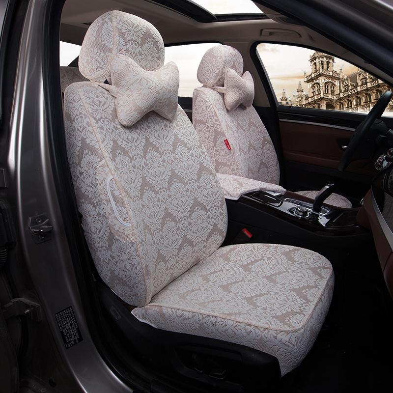 定制绣花蕾丝布艺坐套IS雷克萨斯ES300 RX450CT200专用款汽车座套