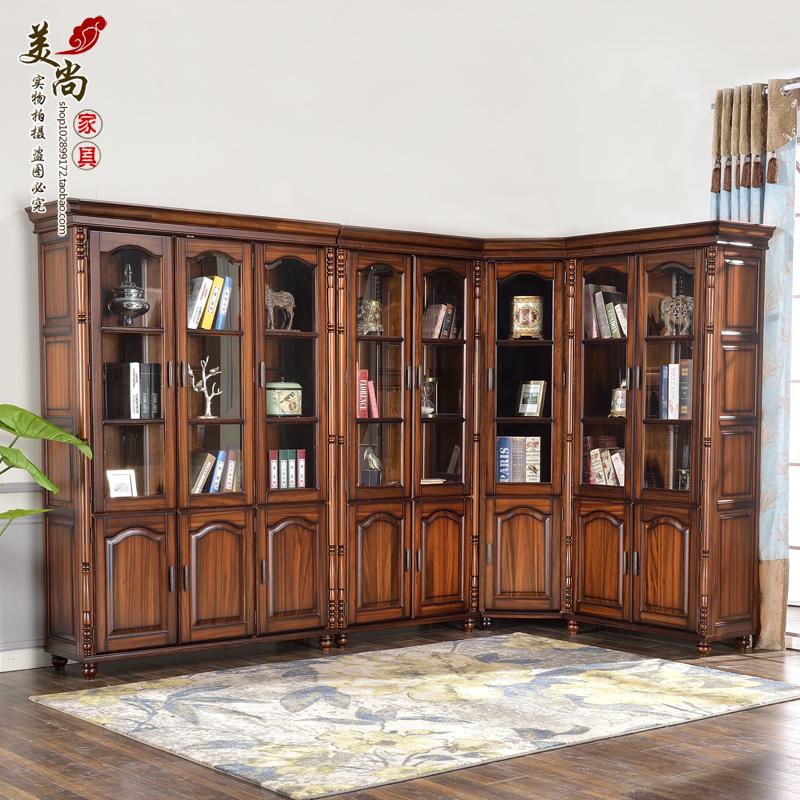 美式轉角書柜