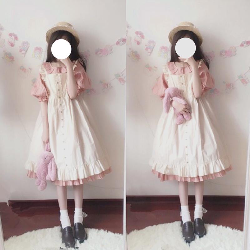 可爱泡泡袖公主裙