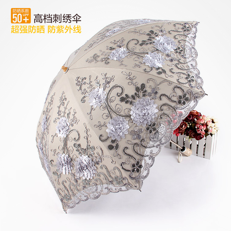 黑胶太阳洋伞