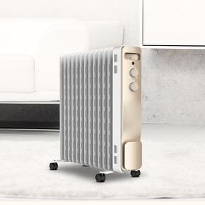 美的油汀取暖器家用节能省电电暖气13片电油丁暖风机烤火炉电暖器