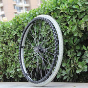 Wheelchair accessories 24 inch solid tire big wheel Free pneumatic tire wheelchair rear wheel overall wheel