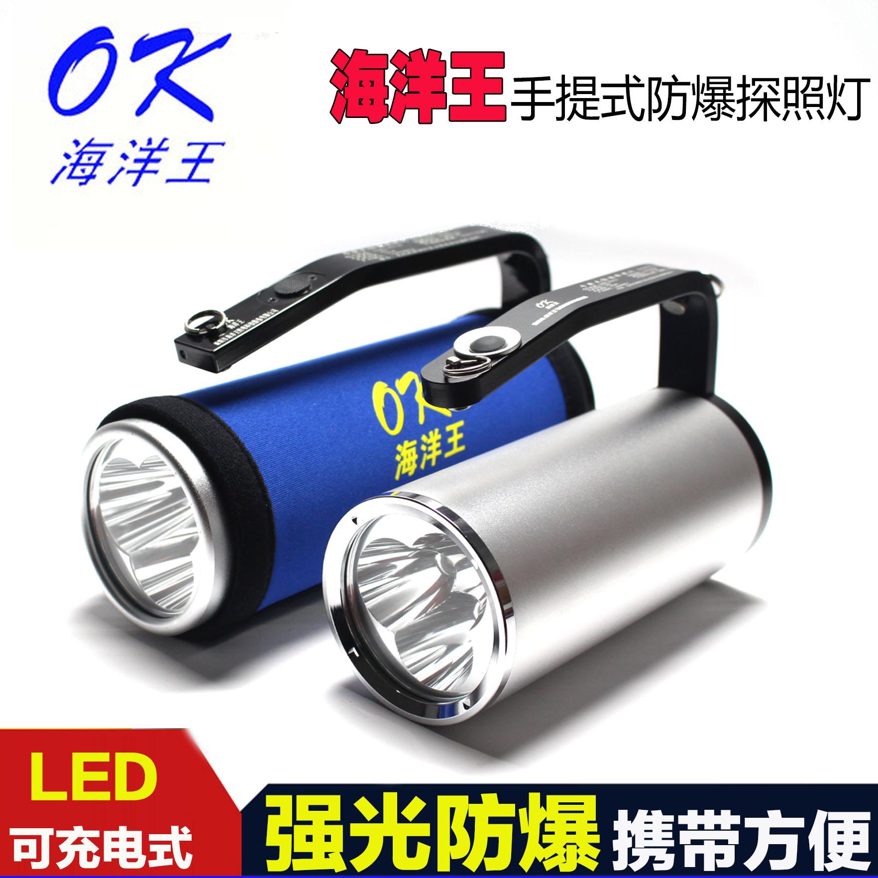 强光手电筒充电器电池RJW7102A手提式防爆探照灯LTRJW7101海洋王