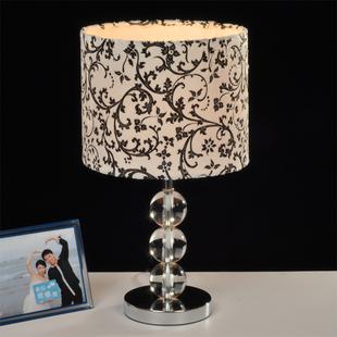 时尚触摸台灯布艺水晶台灯欧式现代简约台灯卧室床头台灯遥控包邮