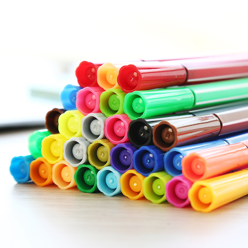 迪士尼正版36色水彩笔套装24色可水洗彩色笔初学者手绘画画笔儿童幼儿园小学生用12色无毒学生文具用品批发