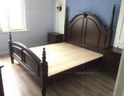 美式乡村家具 田园 欧式风格 实木床 双人床 1.5米 1.8米 婚床