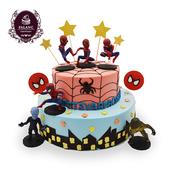 蜘蛛侠生日蛋糕卡通儿童男孩双层北京广州深圳上海杭州同城配送