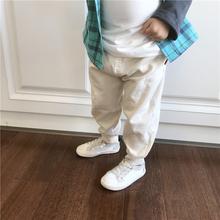 时尚 休闲男童长裤 百搭收口弹力针织斜纹梭织慢跑裤 儿童2019春装