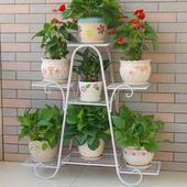 饰架铁艺客厅省空间花盆落地式绿萝 花架子多层室内特价 家用阳台装图片