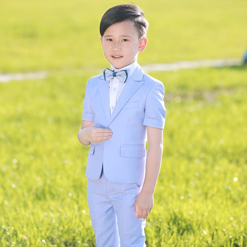 男童西装套装三件套小西装主持人钢琴演出服男花童礼服儿童西服夏