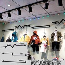 而优商场服装店展示台流水台橱窗展示架落地式高低装饰台包架衣服
