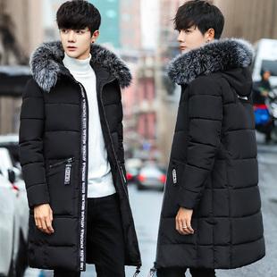 2017新款棉衣男士修身加厚韩版中长款棉袄羽绒棉服冬装冬季外套男