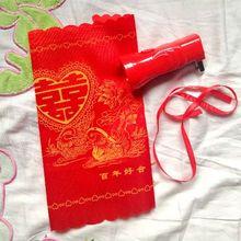 包邮婚嫁红色手电筒便携小手电结婚用品手电筒手电送红手绢
