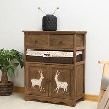 简约现代田园风格床头柜多功能收纳柜储物卧室置物柜创意床边柜子