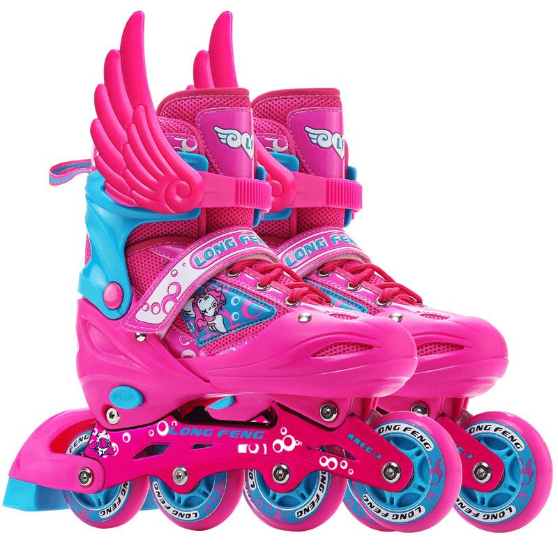 隆峰旗舰店 儿童溜冰鞋正品全套装直排轮滑鞋_英家券