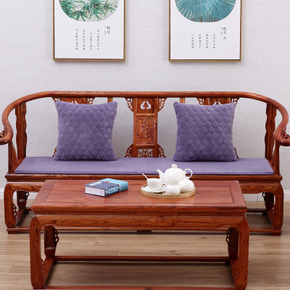 好彩 实木沙发垫四季布艺中式红木沙发坐垫防滑海绵垫通用可定制