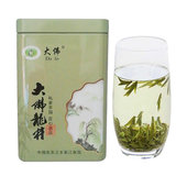 2019硠岩山新茶龙井Green tea stir-fried green Buddha spring tea Mingqian mountain fog 125g canned special