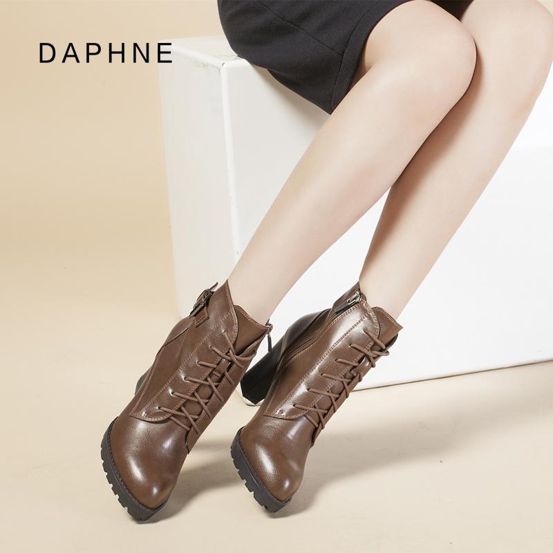 达芙妮高跟雪地靴
