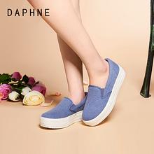 达芙妮春秋女鞋厚底摇摇鞋松糕鞋学院风时尚单鞋乐福鞋女Daphne