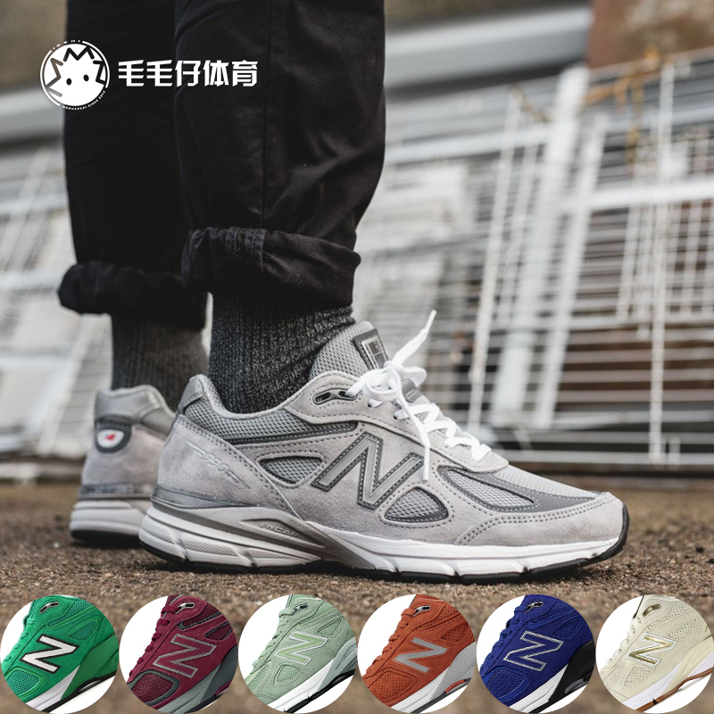 New Balance NB美产总统慢跑鞋W-M990GL4-NV4女男鞋元祖灰3M反光
