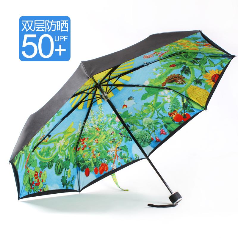 宫崎骏龙猫伞吉卜力遮阳晴雨伞超强防晒紫外线太阳伞50+日本包邮5元优惠券