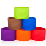 7.5cm 8cm large straight thick glass cup anti-slip sleeve anti-scalding insulation silicone sleeve cup insulation
