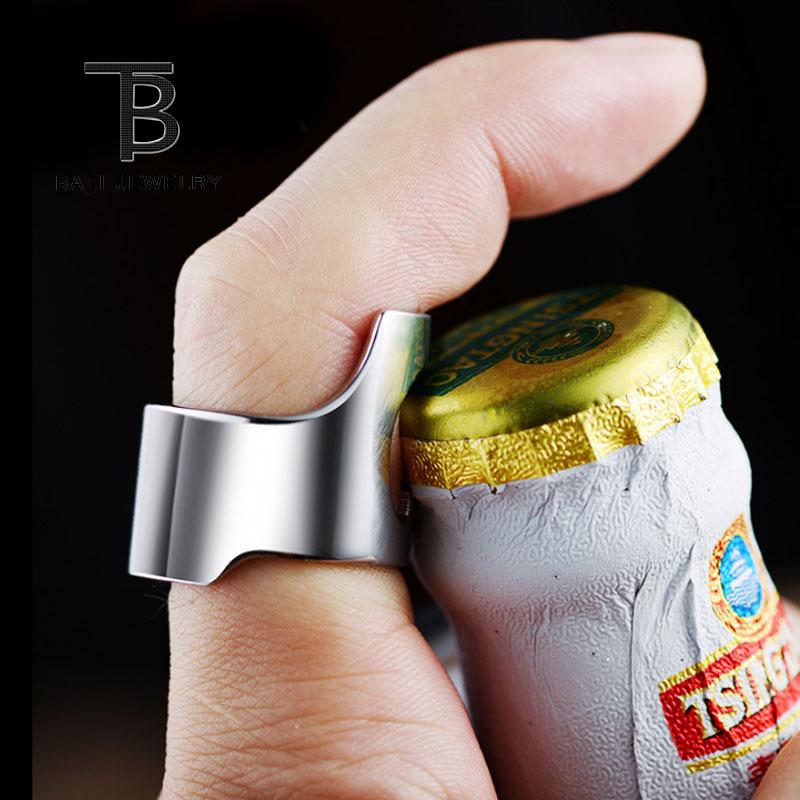 开酒瓶戒指男钛钢创意开瓶器戒指日韩潮人霸气扳指送男友夜店神器
