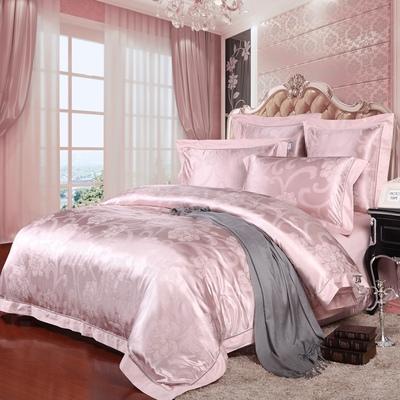 畅想罗莱家纺专柜床上用品欧式婚庆真丝桑蚕丝提花全棉四件套