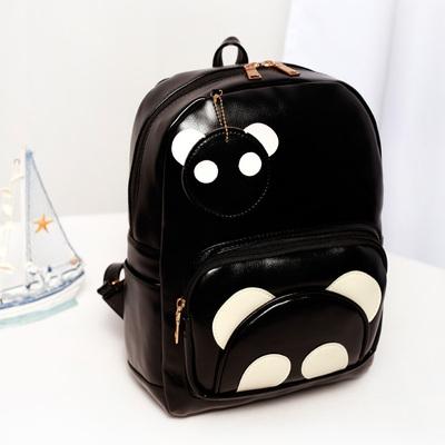 女士包卡通可爱背包时尚熊猫双肩包2016秋冬新款书包学院风旅行包
