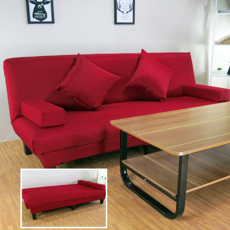 沙发大红色