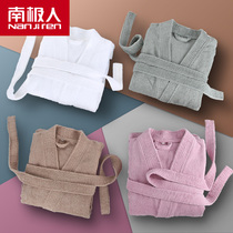 Antarctic bathrobe hotel men and women bathrobe cotton cotton towel material nightgown thickened bath towel home autumn and winter absorbent