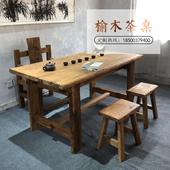 老榆木门板旧木头老门板实木复古怀旧风化木板原木桌面茶桌吧台板