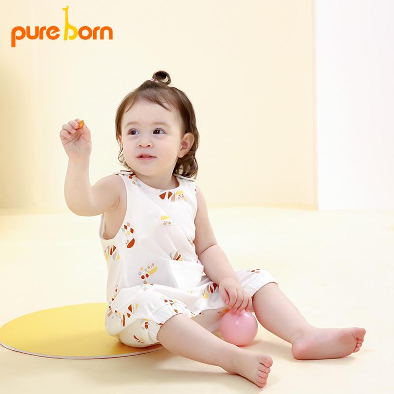 背带哈衣0-2岁服婴幼儿连体爬夏装新品