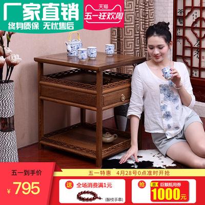 鸡翅红实木仿古阳台原木新中式客厅功夫喝泡茶桌艺桌椅组合小茶几好不好