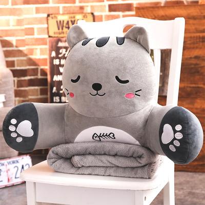 抱枕被子两用靠垫可爱腰枕办公室靠枕腰靠背午睡枕头三合一毯子