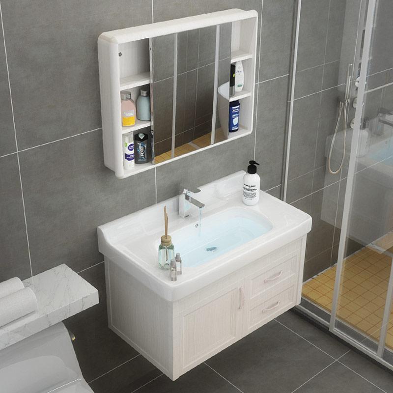 太空铝浴室柜组合洗手盆现代简约卫生间洗脸盆柜卫浴面盆柜洗漱台