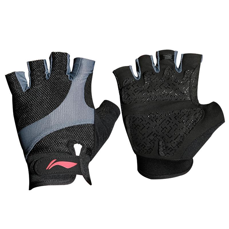 李宁健身手套男女薄款运动装备护具器械训练单杠防滑半指护腕手套